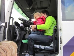 Foto: In de vrachtwagen bij Eijgenhuijsen